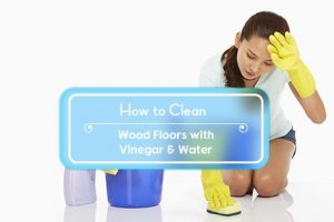how to clean wood floors with vinegar and water