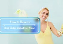 how to remove dark water stains from wood